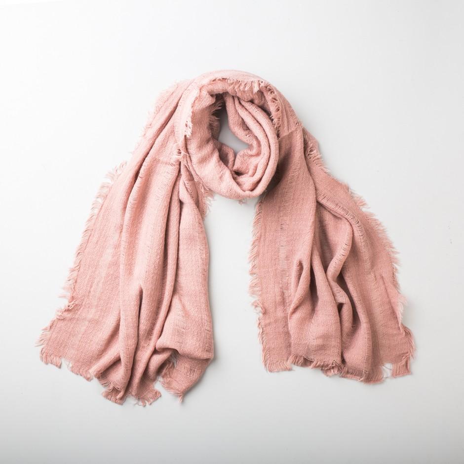 Bufanda rosa lisa