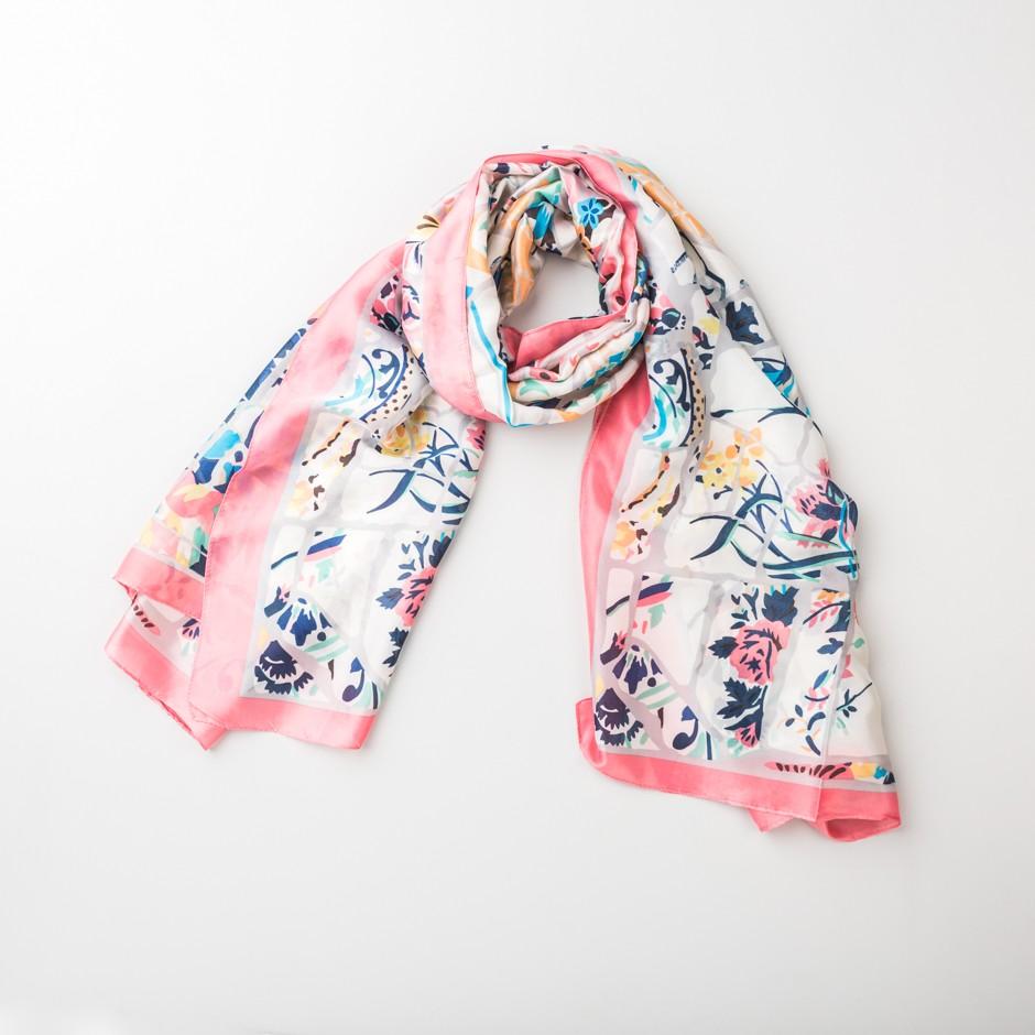 Pañuelo multi rosa