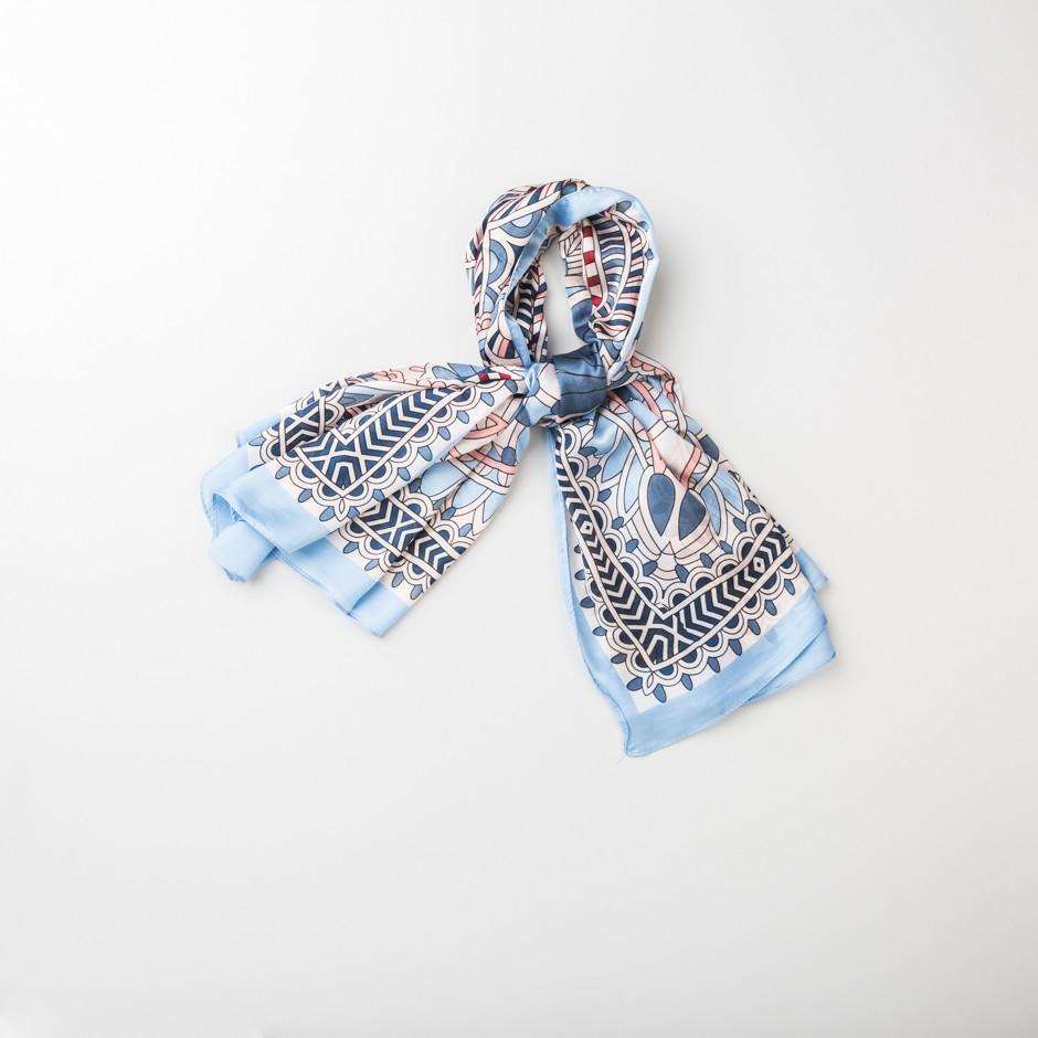 Pañuelo cenefa azul