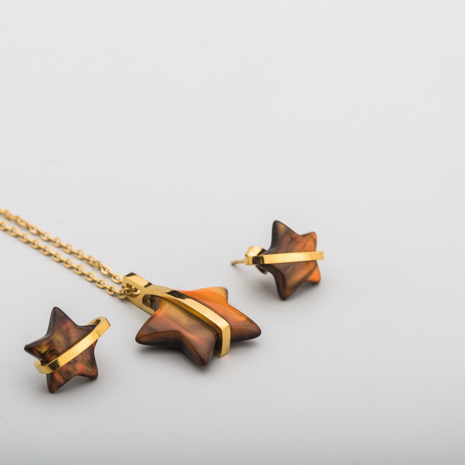 Set acero estrella carey