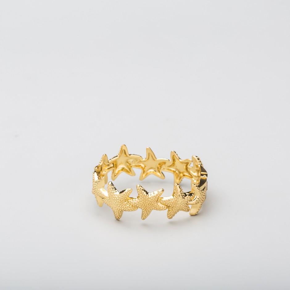 Brazalete estrellas dorado
