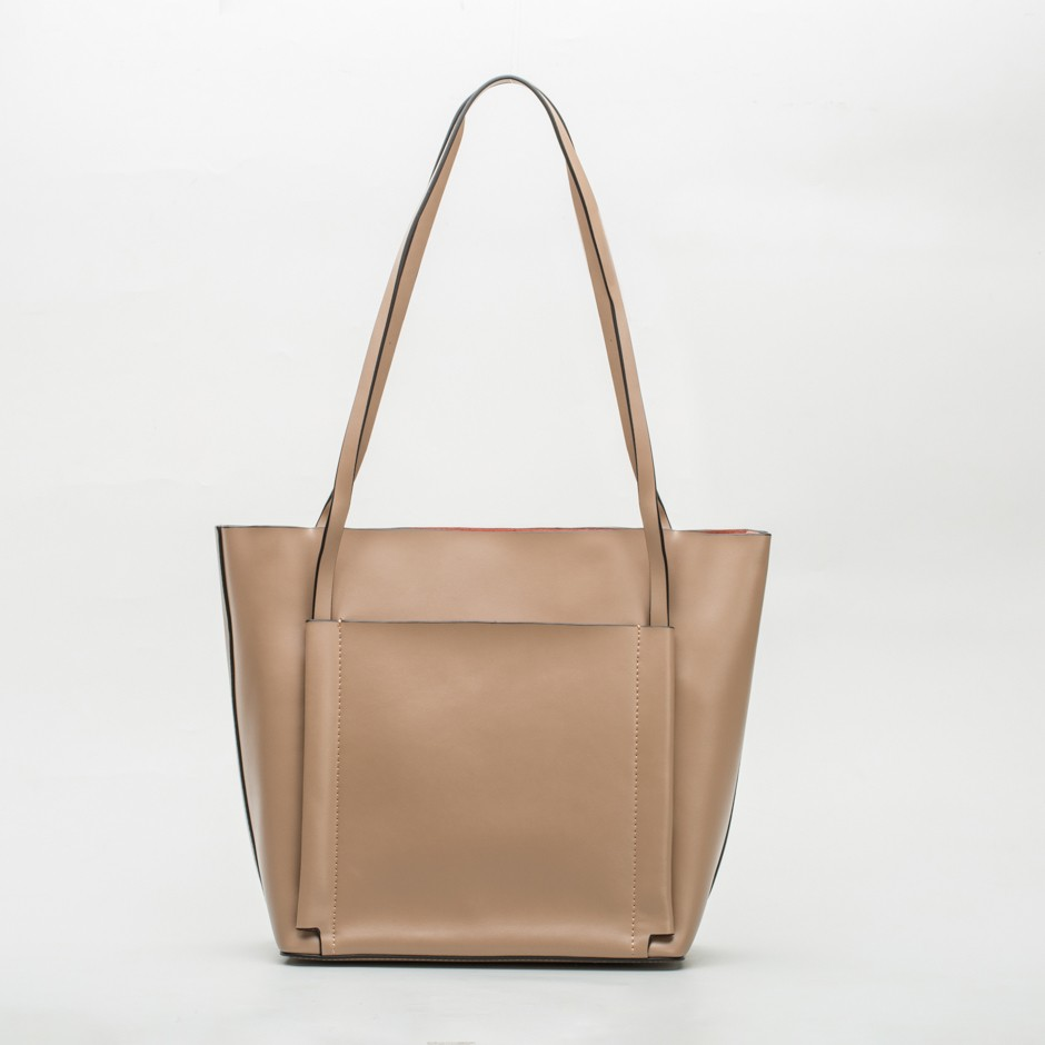Bolso shopping taupe
