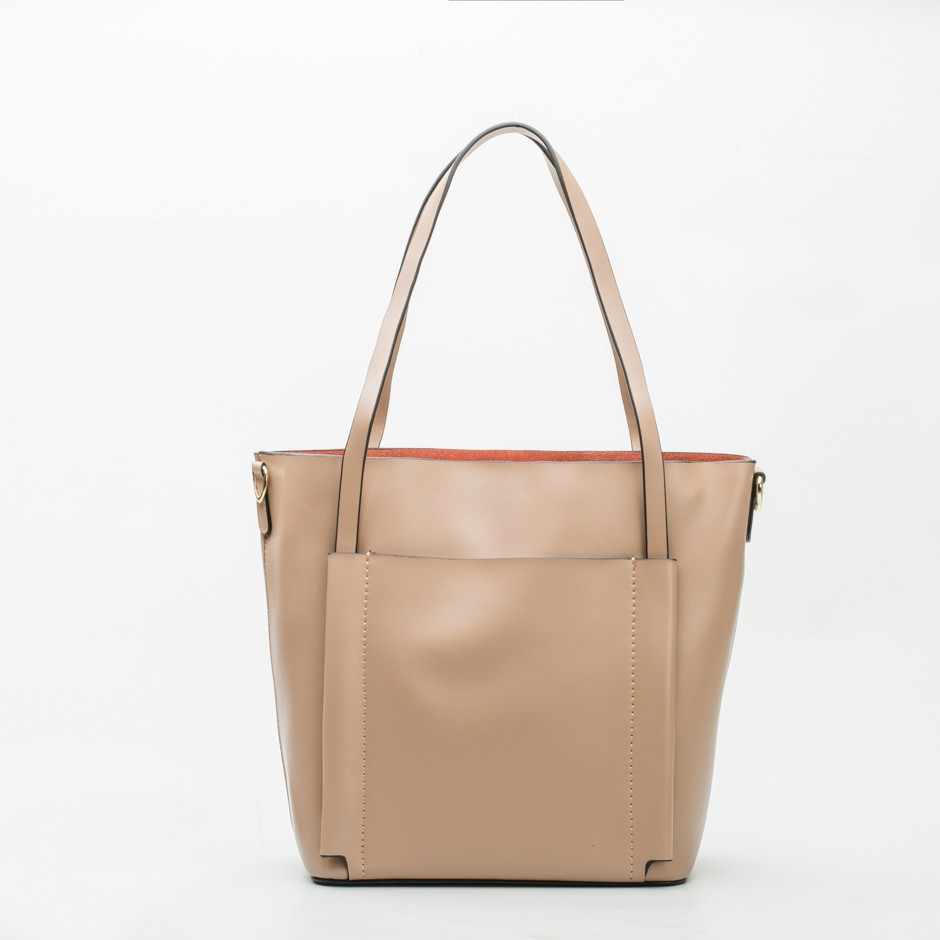 Bolso shopping mini taupe