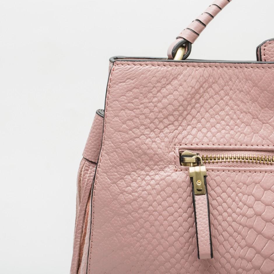 Bolso cuadrado rosa