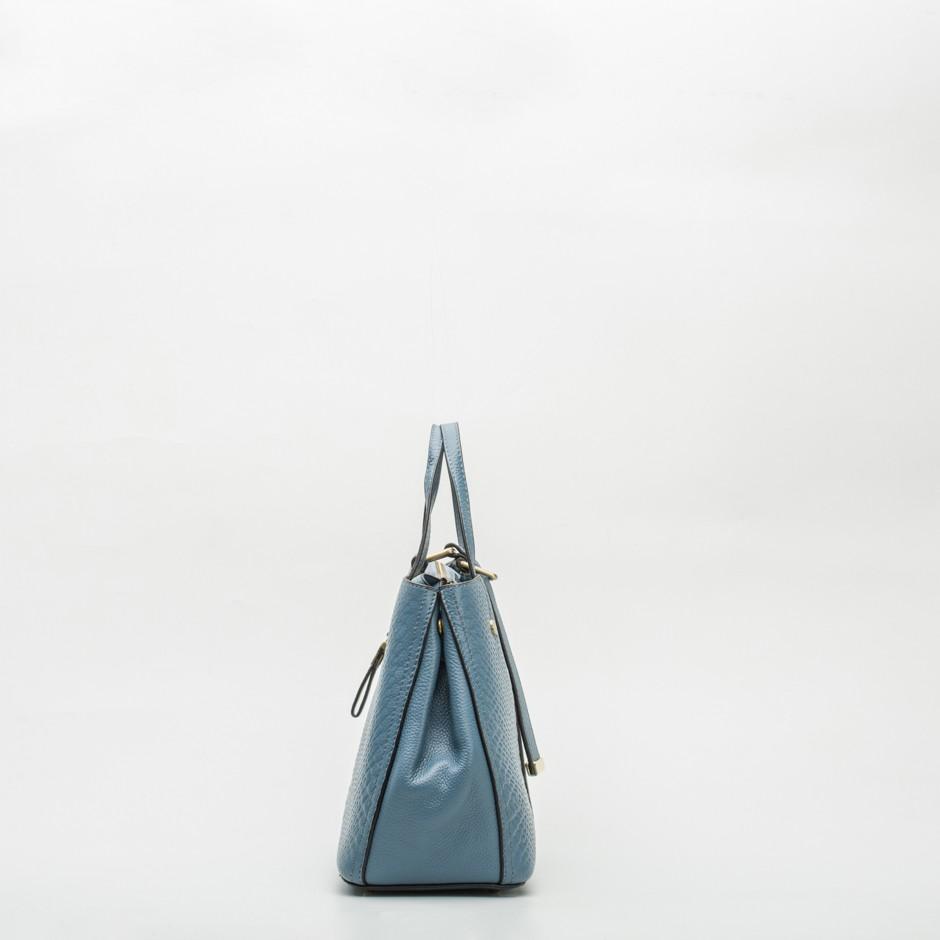 Bolso cuadrado doble asa blue