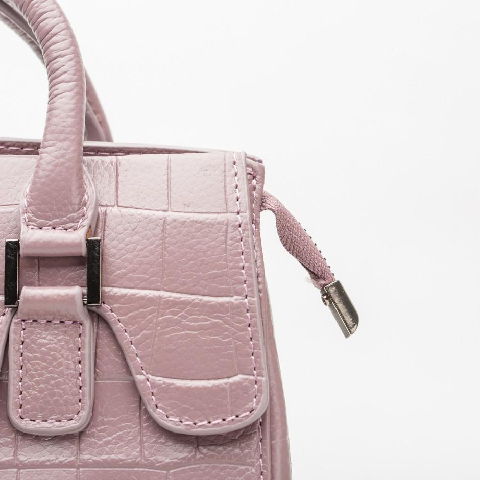 Bolso coco rosa midi