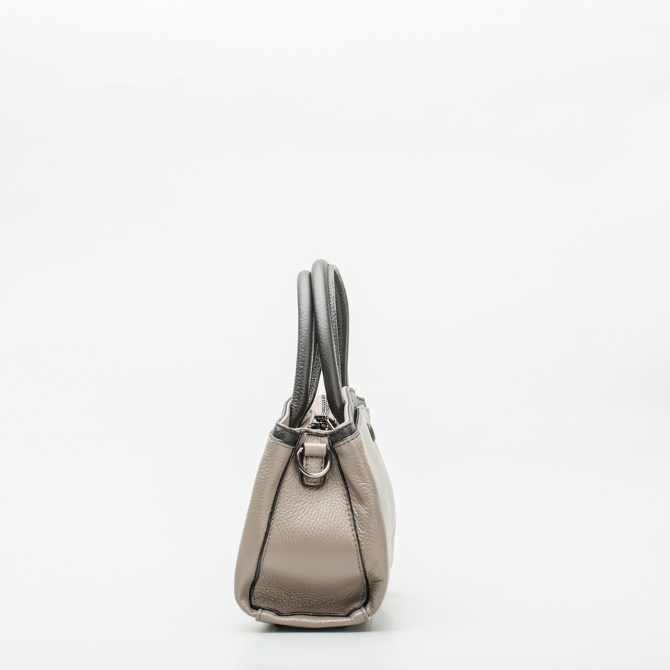 Bolso gris y negro mini