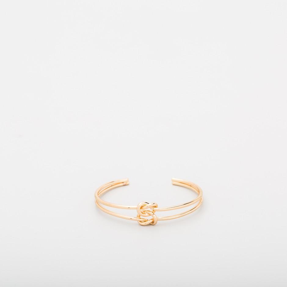 Brazalete doble nudo dorado