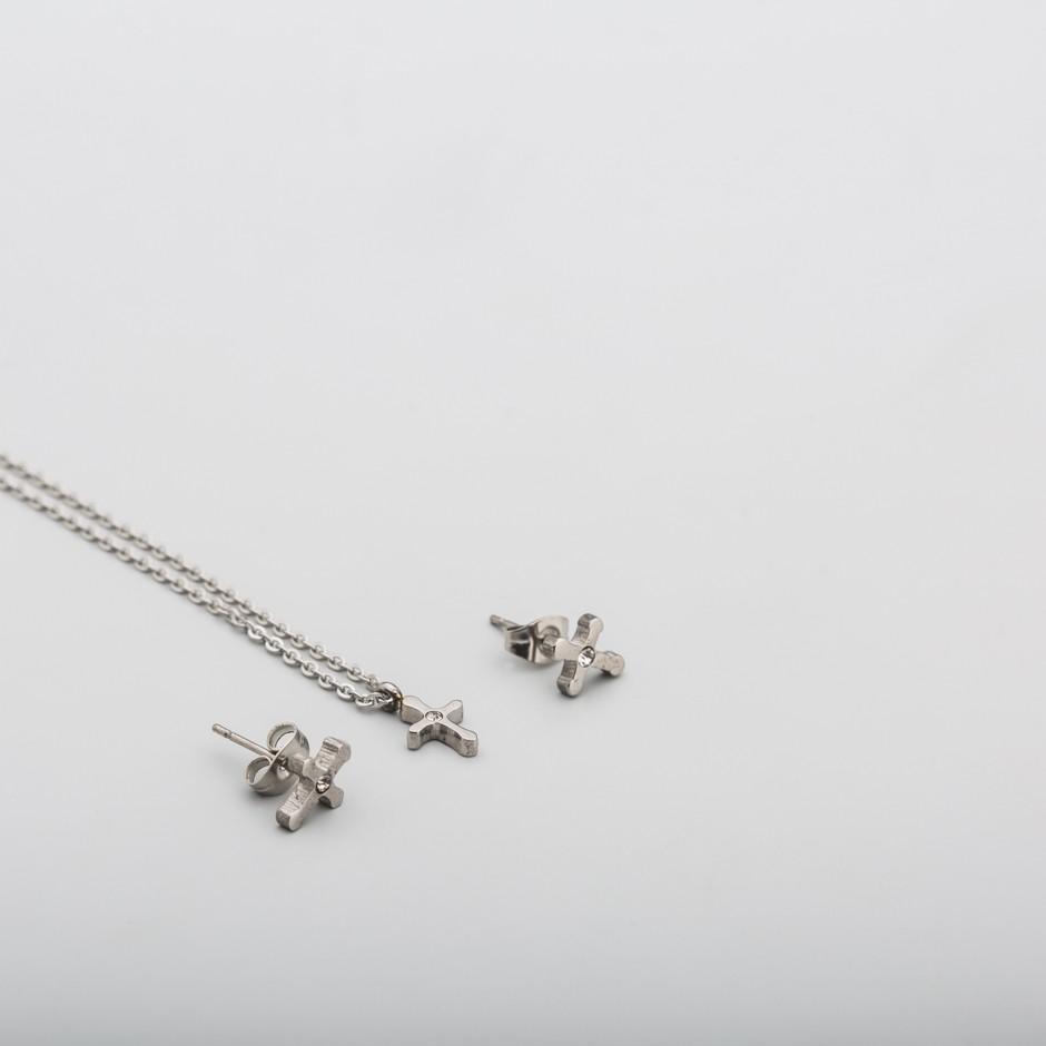 Set acero cruz mini