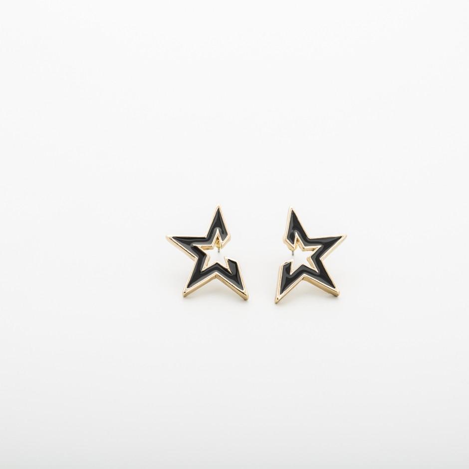 Pendiente estrella negra