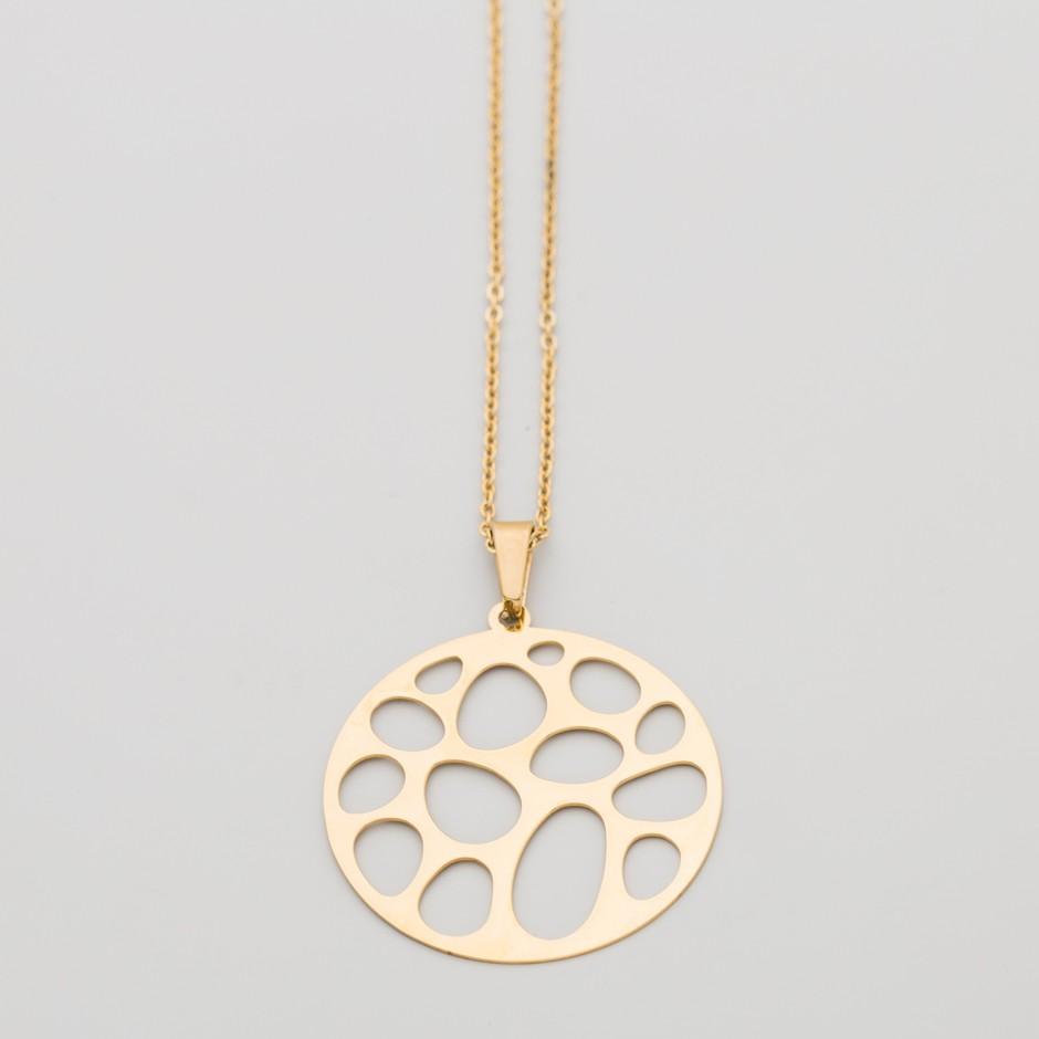 Colgante DINA dorado medallón