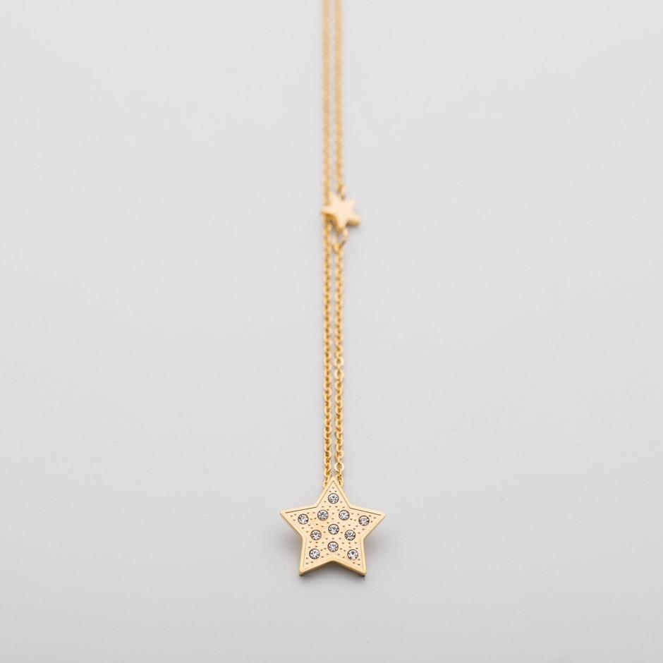 Colgante LEAH dorado star