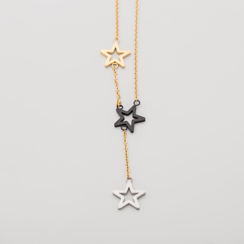 Colgante LEAH dorado colgante star