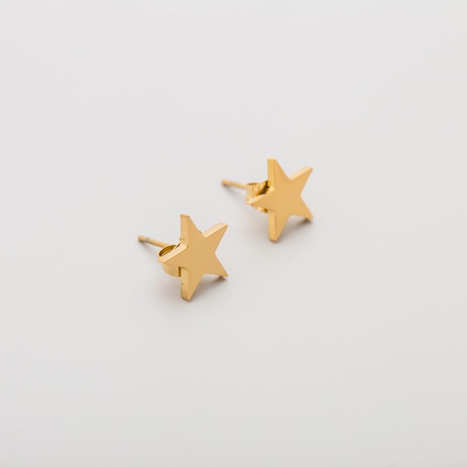 Pendiente LEAH star dorado