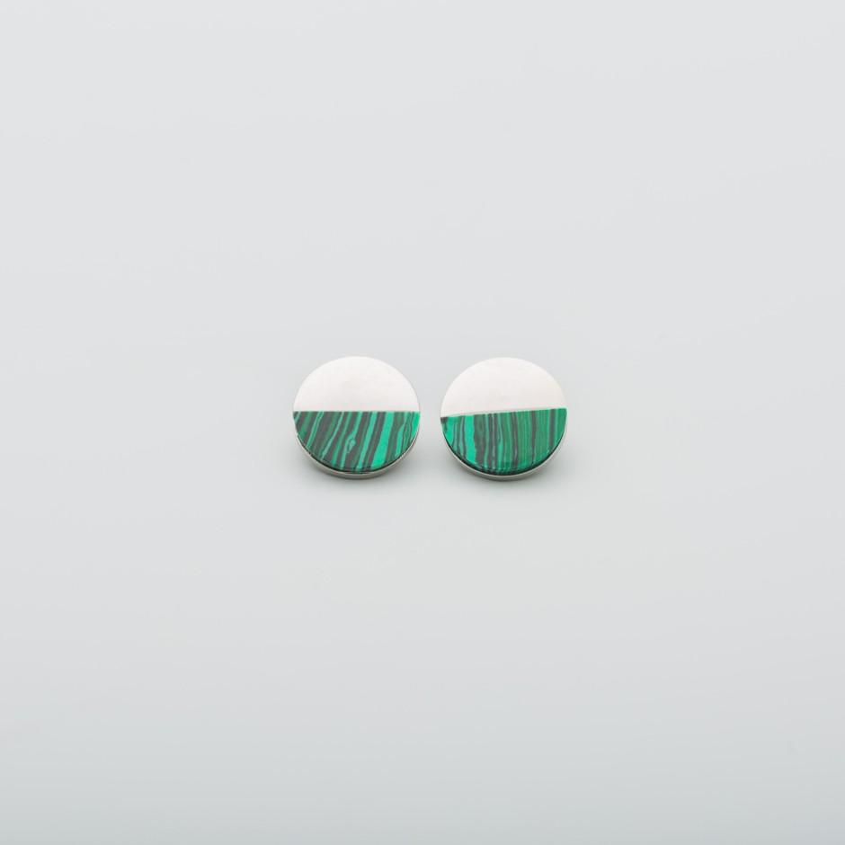 Pendiente esmaltado verde