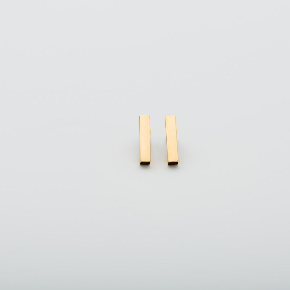 Pendiente acero vertical dorado