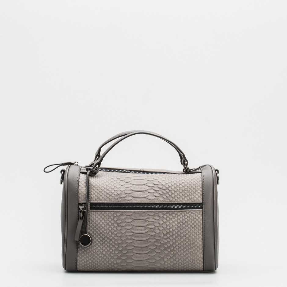 Bolso bauletto gris