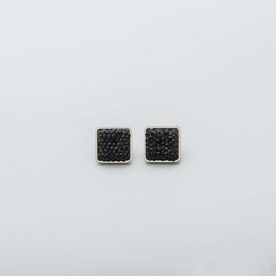 Pendiente mini negro