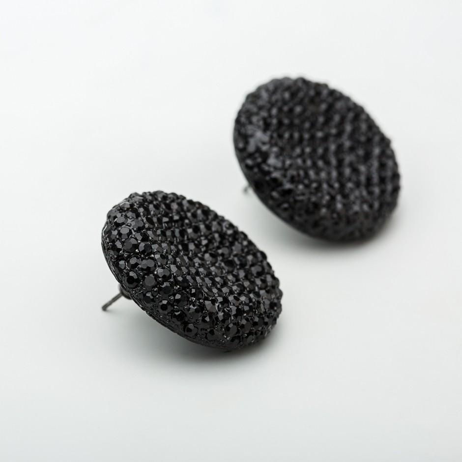 Pendiente botón negro