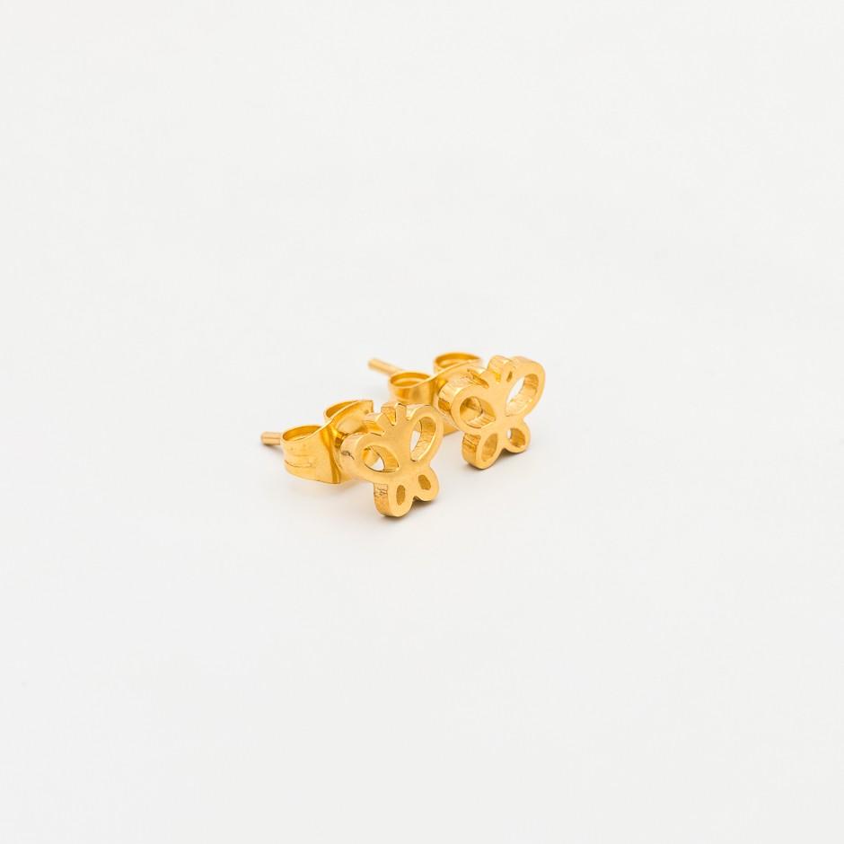Pendiente mariposa dorada mini