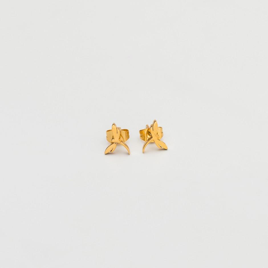 Pendiente libélula dorada mini