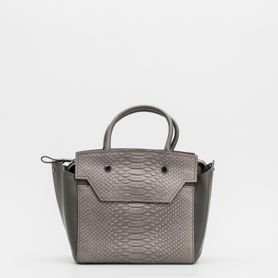 Bolso shoulder gris