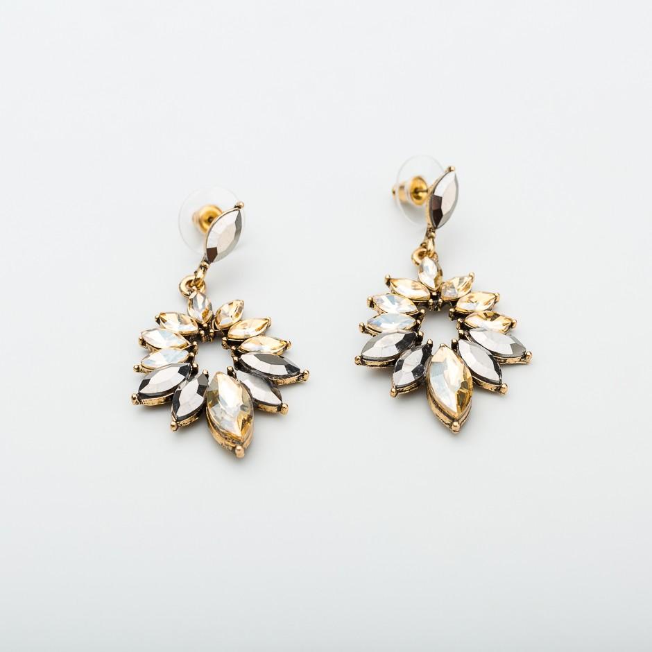 Pendiente diamond beige