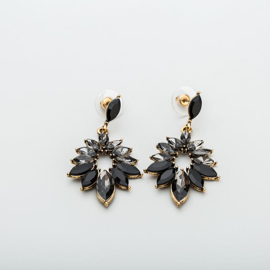 Pendiente diamond negro