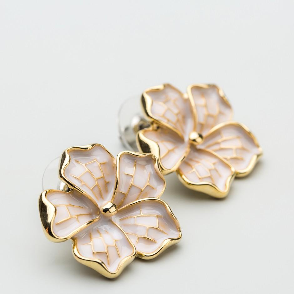 Pendiente flor esmaltada