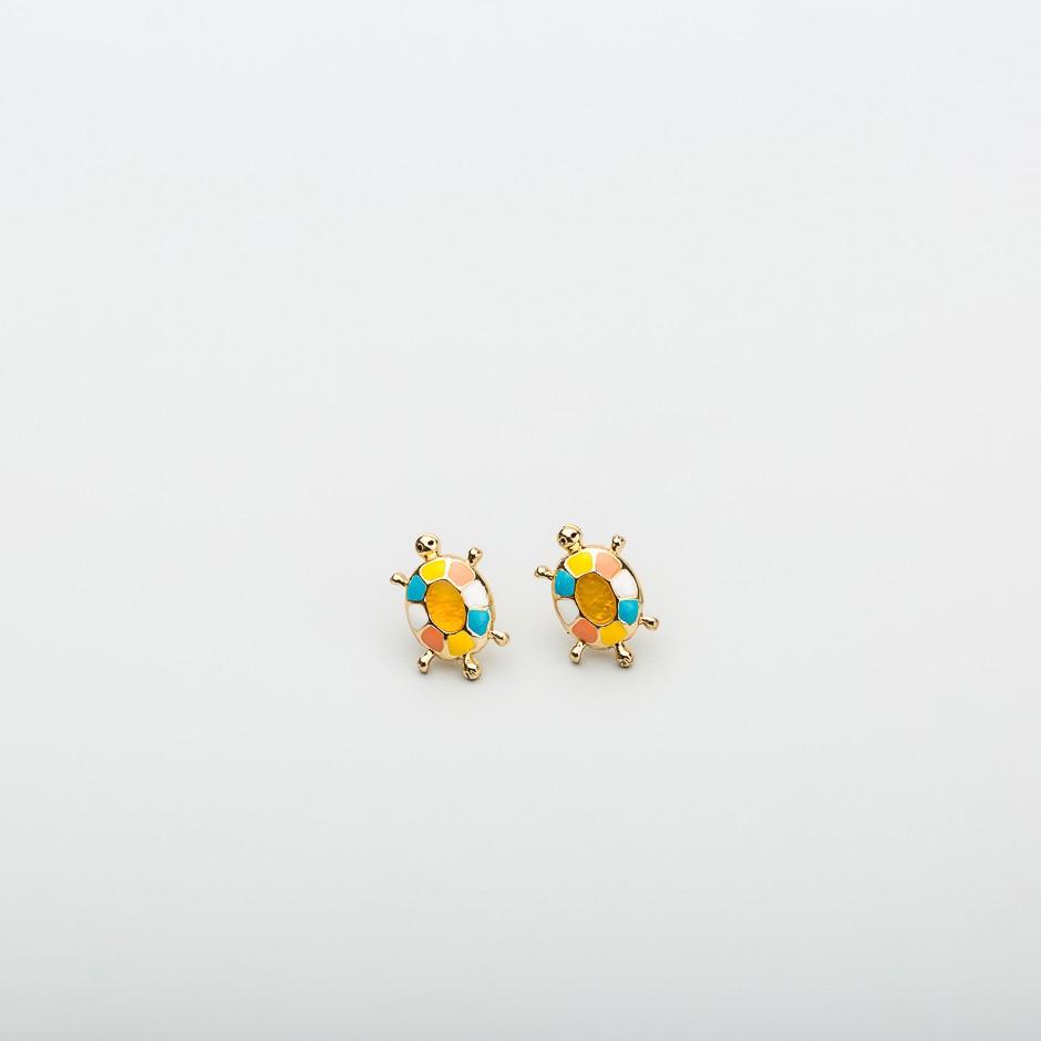 Pendiente mini tortuga multi