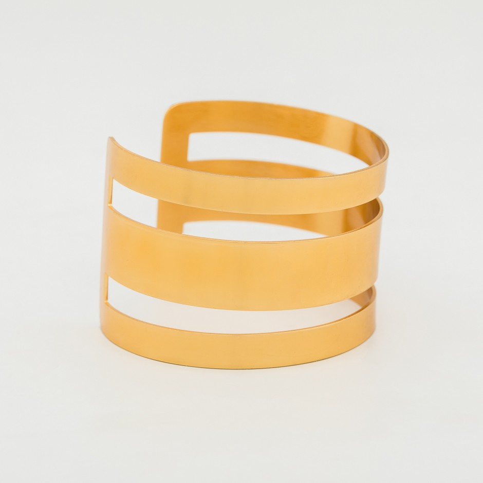 Brazalete stripes dorado