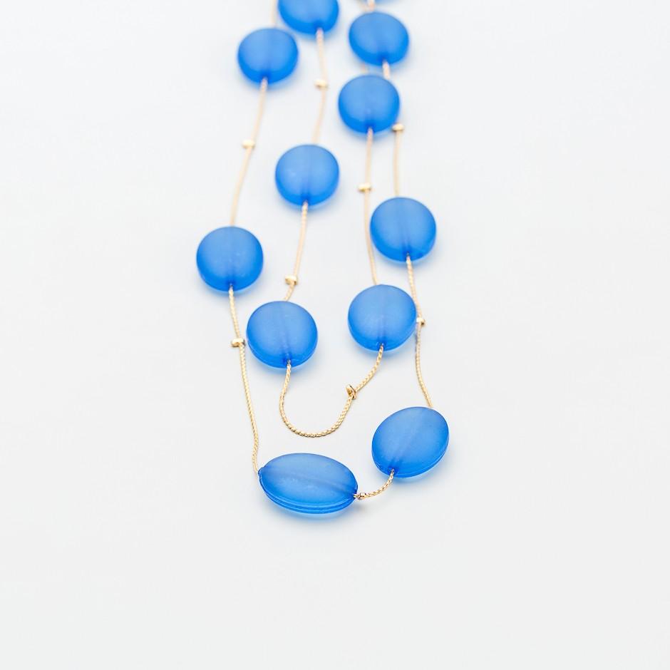 Collar cuentas azul