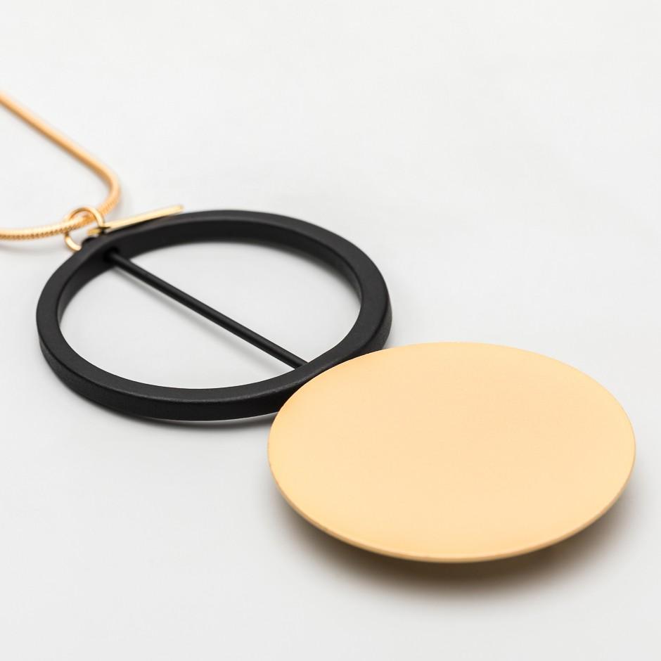 Colgante disco oro
