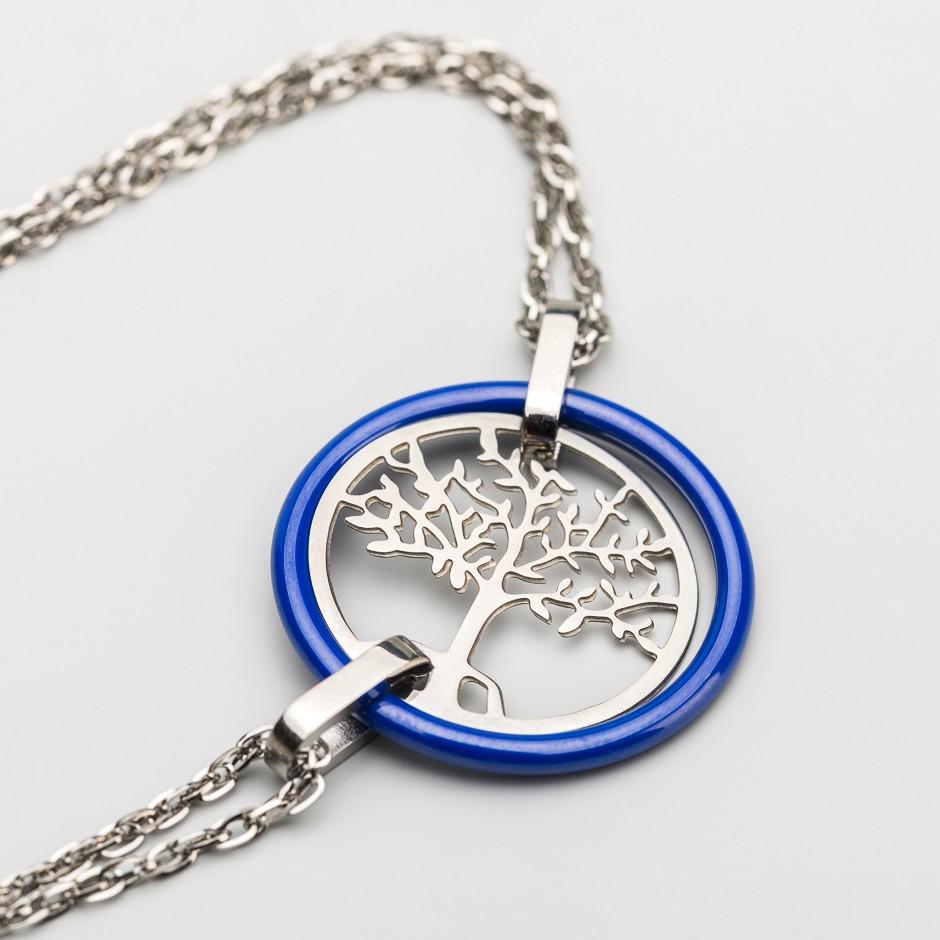 Pulsera árbol azul