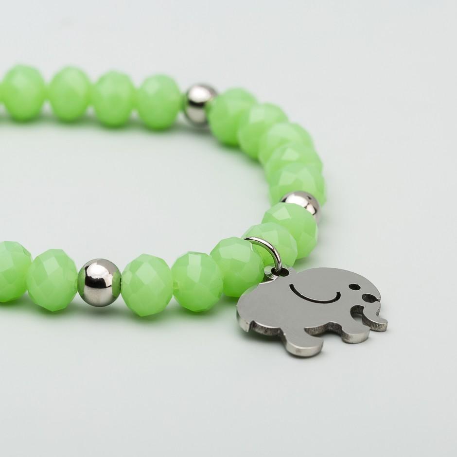 Pulsera green elefante plateado