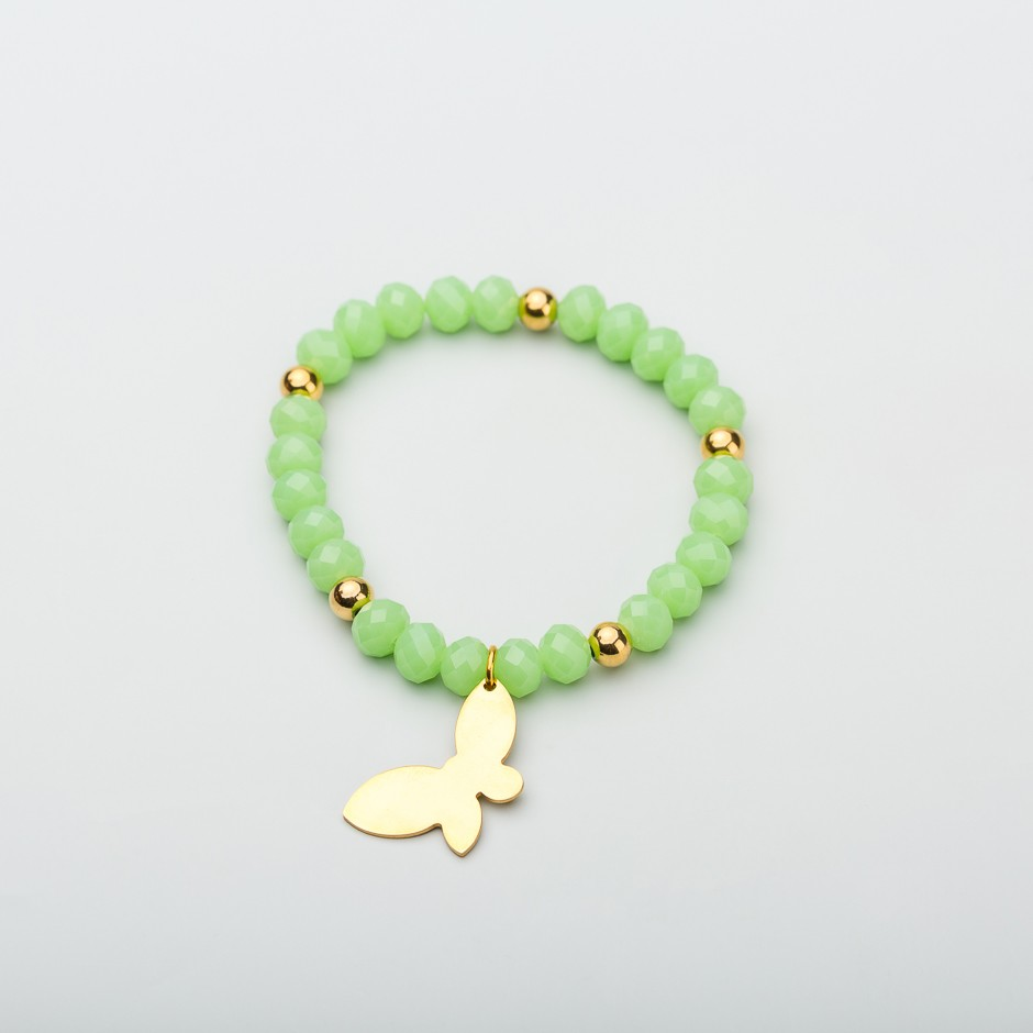 Pulsera green mariposa dorada