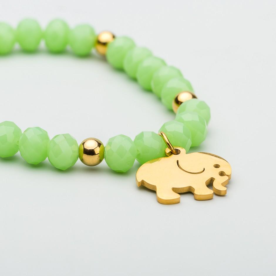 Pulsera green elefante dorado