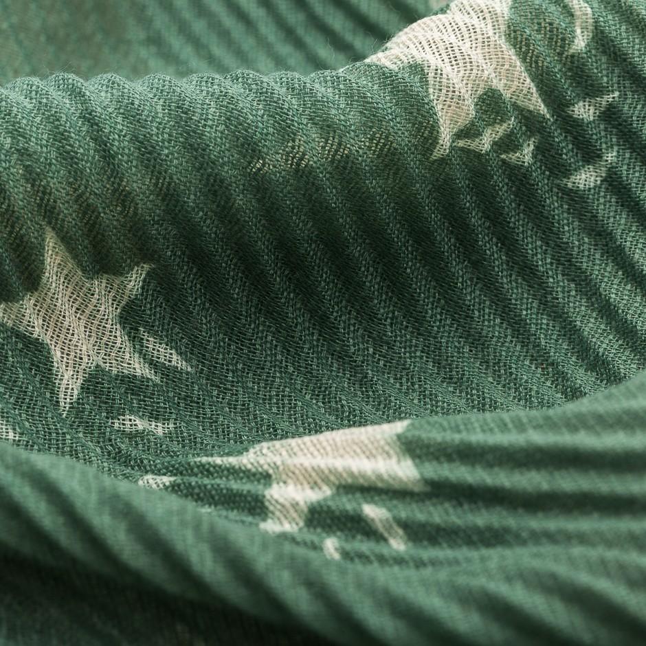 Pañuelo estrellas verde