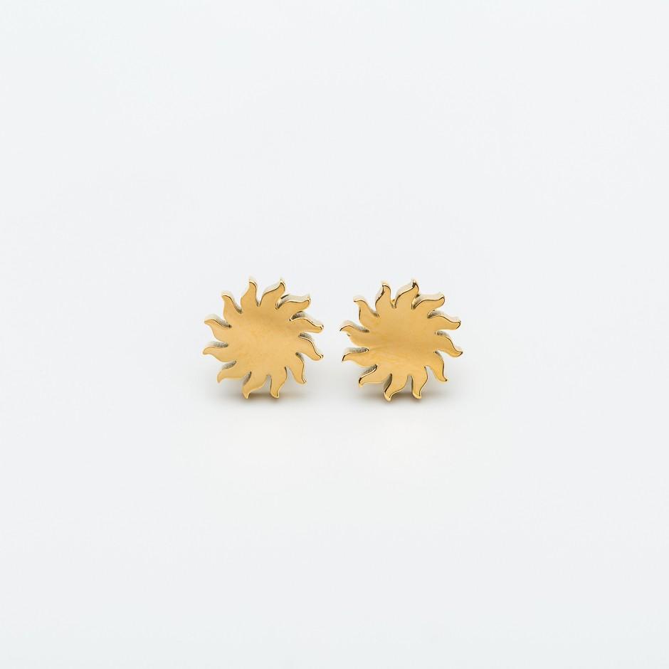 Pendiente sol dorado mini