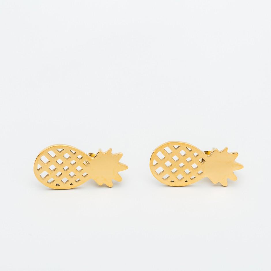 Pendiente piña dorada mini