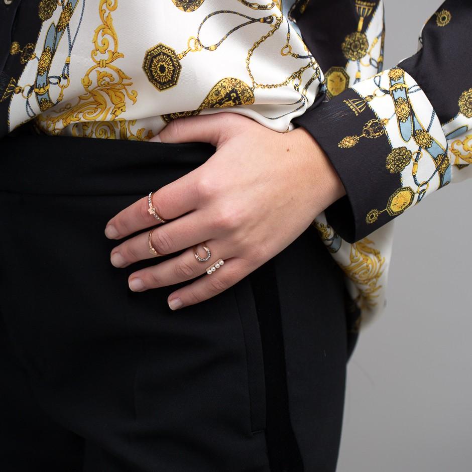 Anillo mini perlas