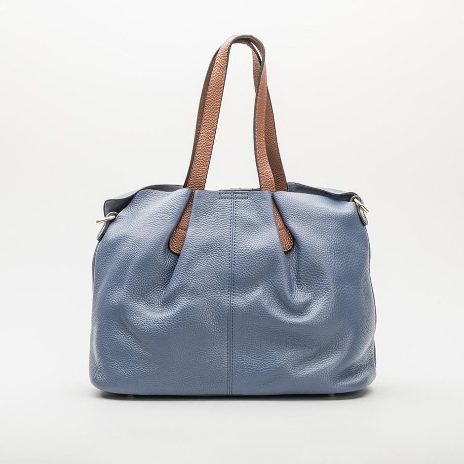 Bolso pliegue azul