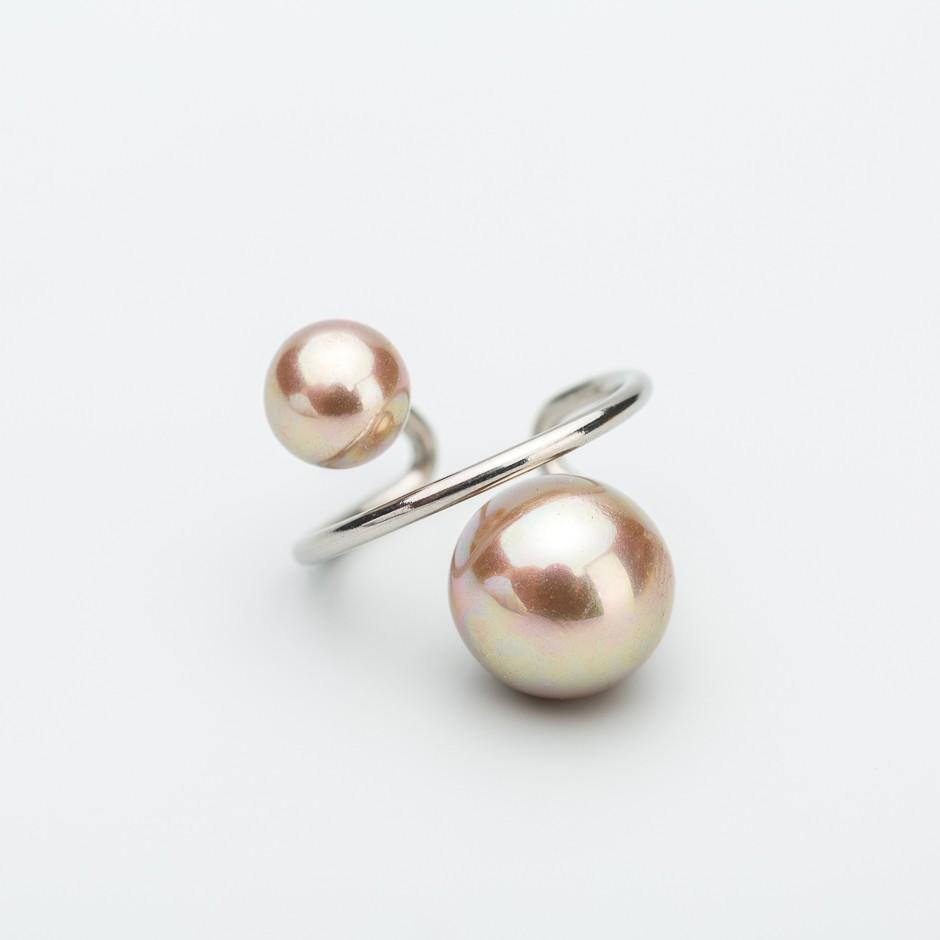 Anillo brown pearl