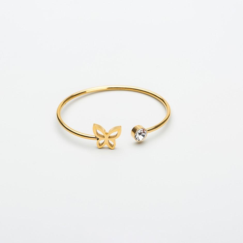Pulsera MEDEA mariposa bling dorada