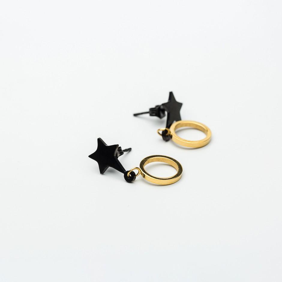 Pendiente LEAH star & circle