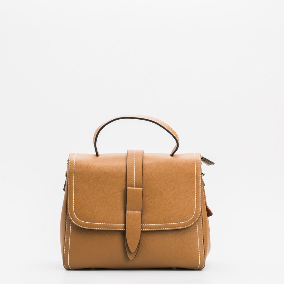 Bolso satchel mediano cuero
