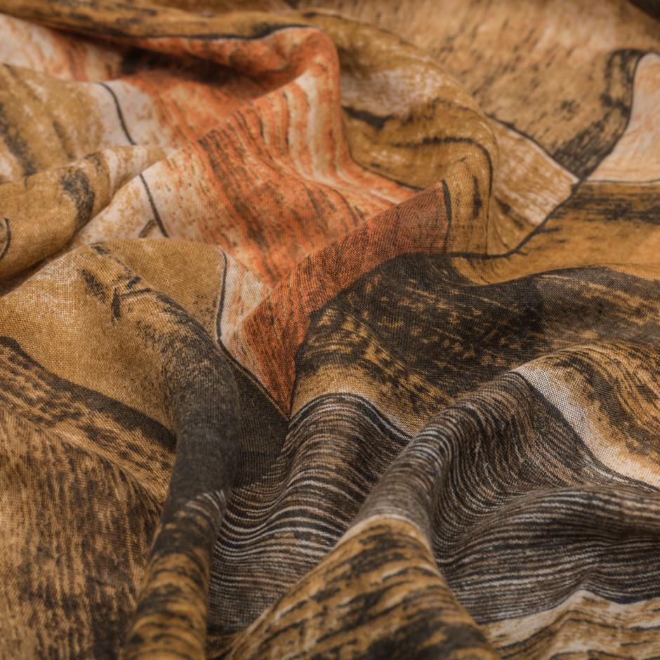 Pañuelo madera mostaza