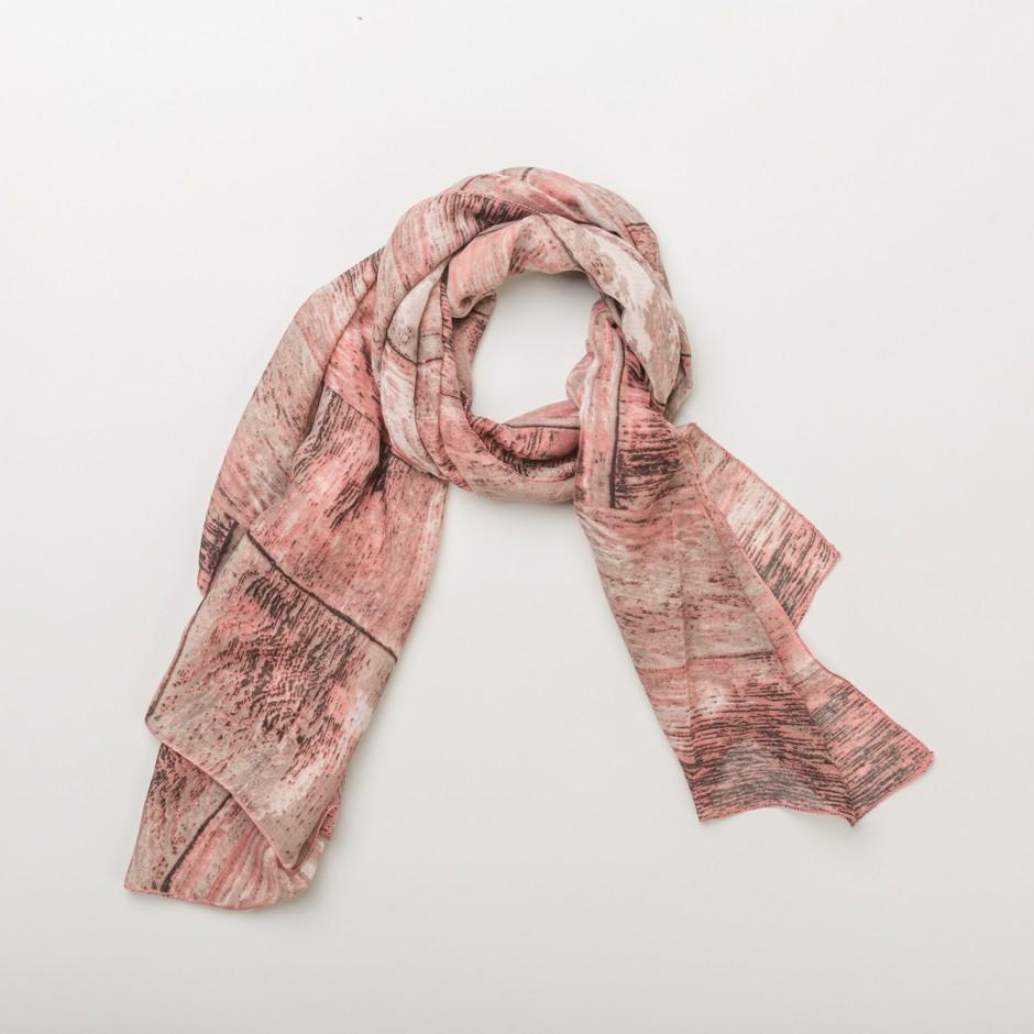 Pañuelo trazos rosa