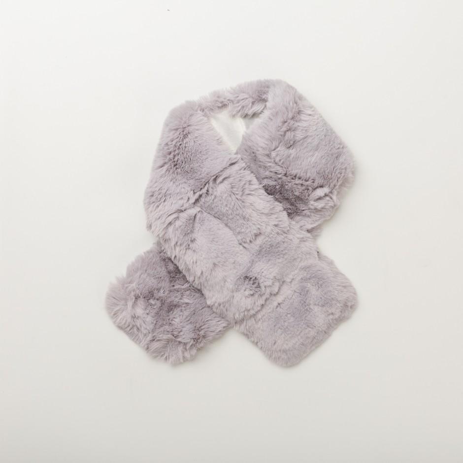 Bufanda gris glam