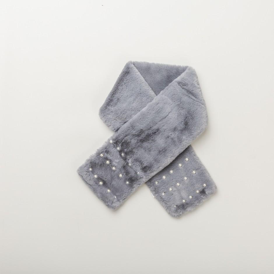 Bufanda gris pearls
